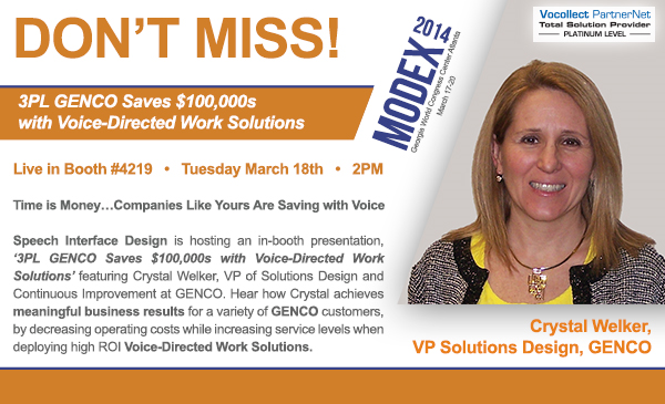 Speech Interface Design Don%27t Miss GENCO at Modex2014 resized 600
