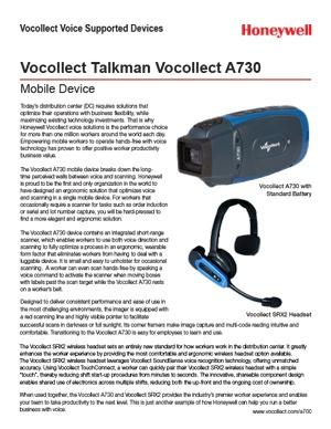 Talkman A730 Datasheet