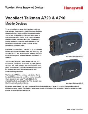 Talkman A720 and A710 Datasheet