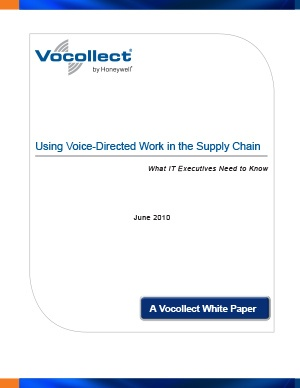 White Paper - Using Voice-Directed Work in the Supply Chain