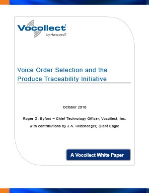 White Paper - Voice Order Selection and the Produce Traceability Initiative